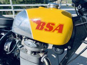 BSA yellow fuel tank